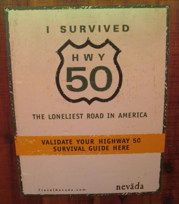 Highway 50 Sign