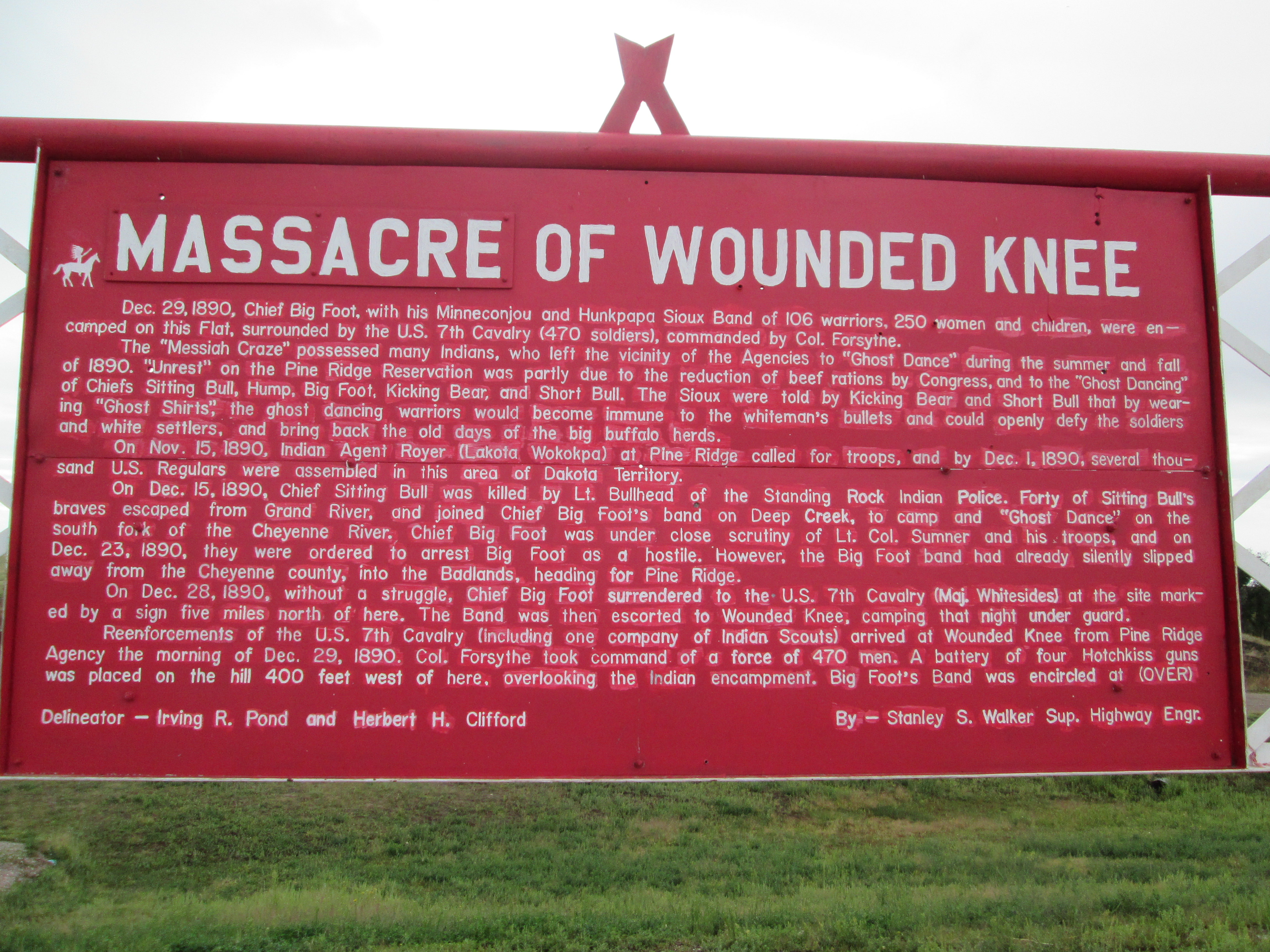 wounded knee The battle of wounded knee, or wounded knee massacre, was the last conflict  between native americans and us soldiers of the indian wars.
