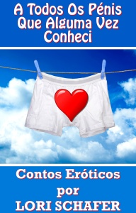 white underwear on a string against cloudy blue sky
